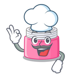 Chef face cream in the cartoon form vector