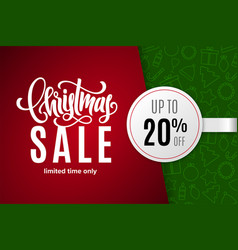 christmas holiday sale 20 percent off vector image