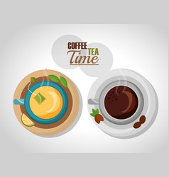coffee and tea time vector image