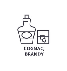cognac brandy line icon outline sign linear vector image