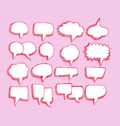 Collection of hand drawn bubble speech vector image