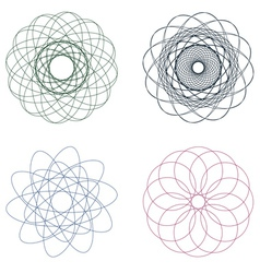 Colorful Spirographs2 vector