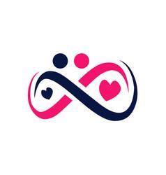 Cute trendy eternal love symbol logo sign of vector
