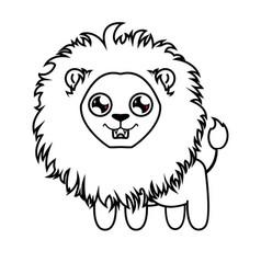 Dear little lion lion cub coloring vector