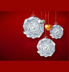 Decorative paper art balls vector