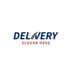 delivery logo template logo for a transport vector image