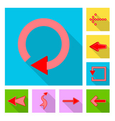 design of element and arrow sign vector image