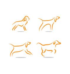 dog logo and icon design concept template vector image