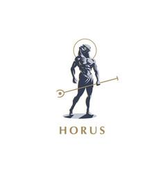 egyptian god horus vector image