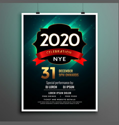 elegant new year party flyer poster template vector image