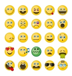 Emoji emoticons icons set vector