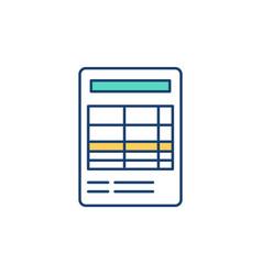 Financial report rgb color icon vector