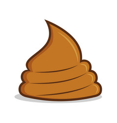 funny cartoon poop vector image
