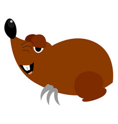 Funny mole on white background vector
