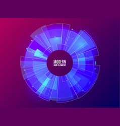 futuristic hud element circle technology concept vector image