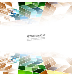 Geometric background colorful triangles vector