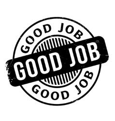 Good Job rubber stamp vector