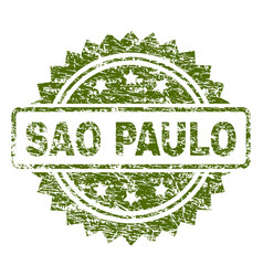 Grunge textured sao paulo stamp seal vector