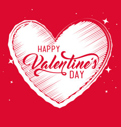 Heart shape to valentine day card vector