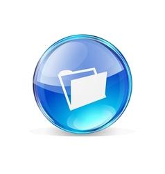 Icon folder vector