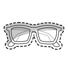 Isolated fashion glasses design vector