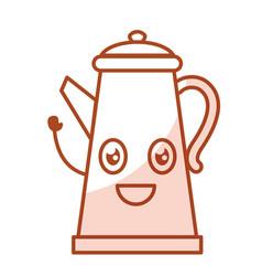 Kitchen kettle kawai character vector