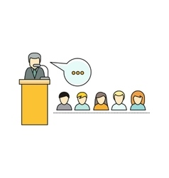 Lecture Concept In Flat Style vector image