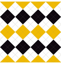 Lines Dots Yellow Black White Diamond vector
