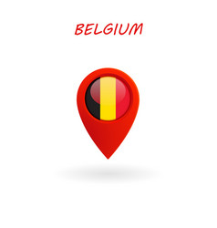 Location icon for belgium flag eps file vector