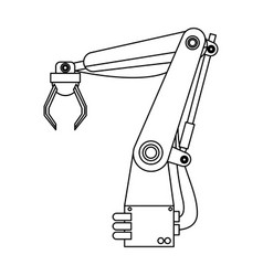 Machine concept represented by robot arm vector