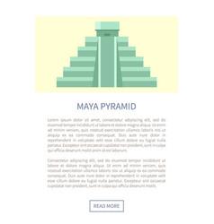 Maya pyramid web page text vector