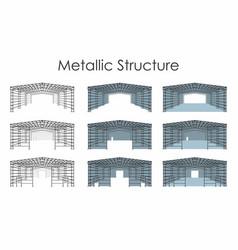 Metallic structure vector