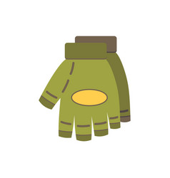 Military gloves flat paintball or airsoft vector