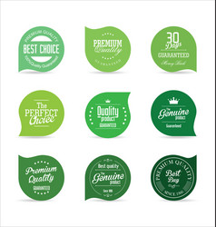 modern badges green collection vector image