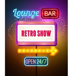 Neon Showing Sign Poster vector