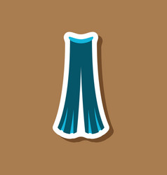 Paper sticker fashion clothes pants vector
