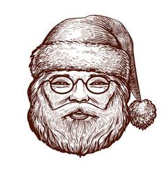 portrait happy santa claus sketch christmas vector image