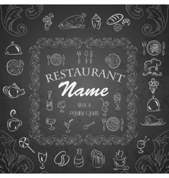 Retro vintage restaurant menu vector image