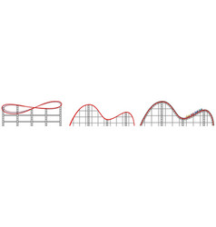 roller coaster track on white background vector image