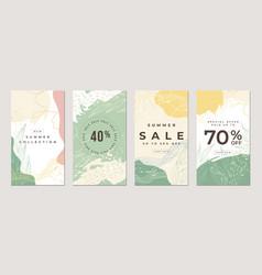 Sale flat stories template vector