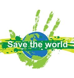 Save world concept vector