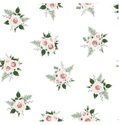 seamless pattern floral watercolor design vector image