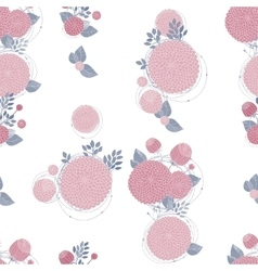 Seamless texture with asters vector