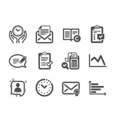Set education icons such as verified mail vector