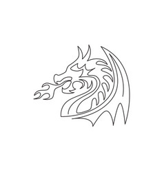single continuous line drawing fictional vector image