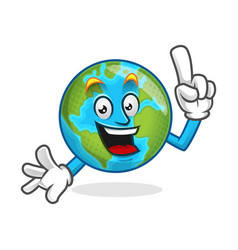 Smart earth mascot clever earth character earth vector