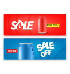 soda cans banners set advertising banners layout vector image