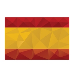 spain flag low poly vector image vector image