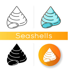 Top shell icon vector