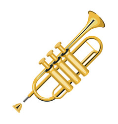 trumpet music instrument realistic icon vector image